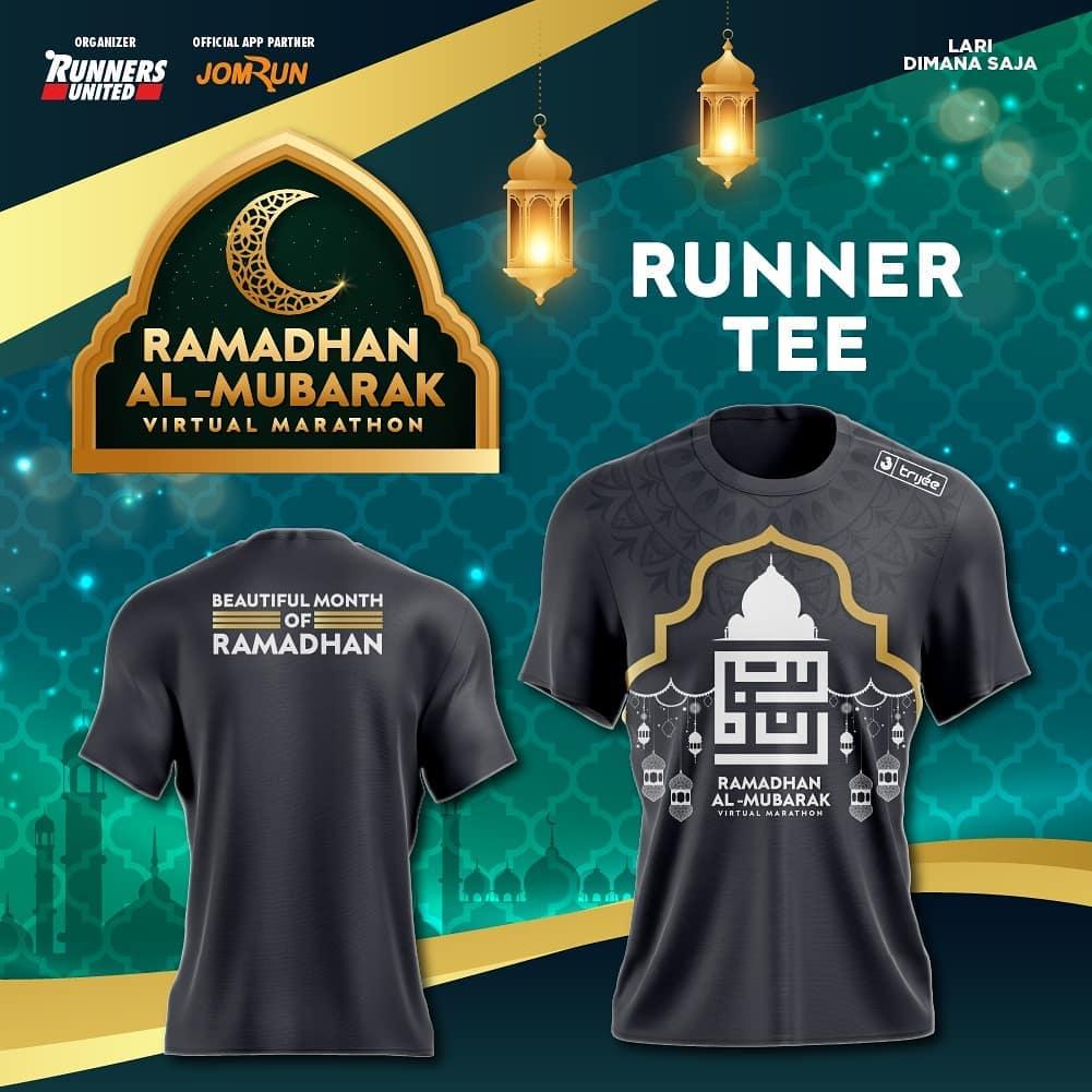 Running Tee 👕 Ramadhan Al-Mubarak Virtual Marathon • 2021