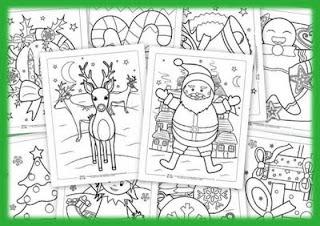 Fichas De Dibujos De Navidad.Actividades Para Educacion Infantil 10 Fichas Navidenas