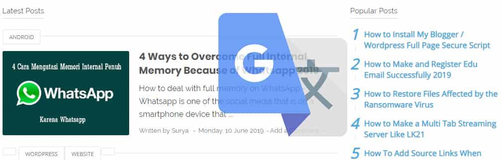 cara menerjemahkan halaman web di google chrome
