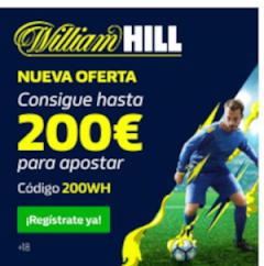 William Hill: Apuestas Deportivas Bono de Bienvenida 200€