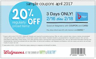 Walgreens coupons april 2017