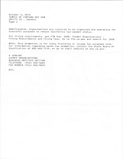 CA FTB Tax Determination Letter