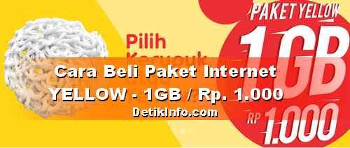Harga paket Data IM3 Yellow 1 GB cuma Seribu, Begini cara Belinya!