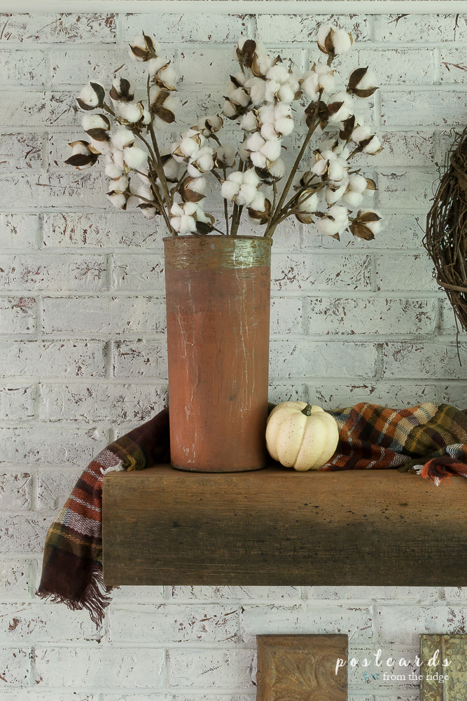So many ideas for adding farmhouse and French country style to your fall mantel.