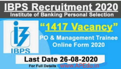 IBPS PO 2020: Apply Online Now @ibps.in for 1417 Vacancies; Check PO/MT Application Process, Eligibility, Exam Date