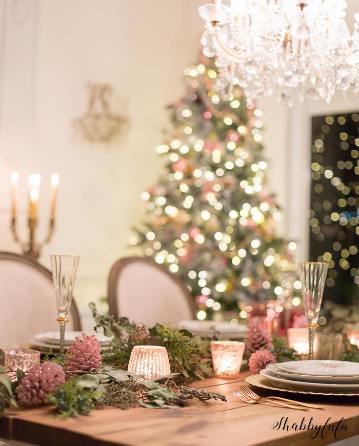 elegant christmas dining room shabbyfufu