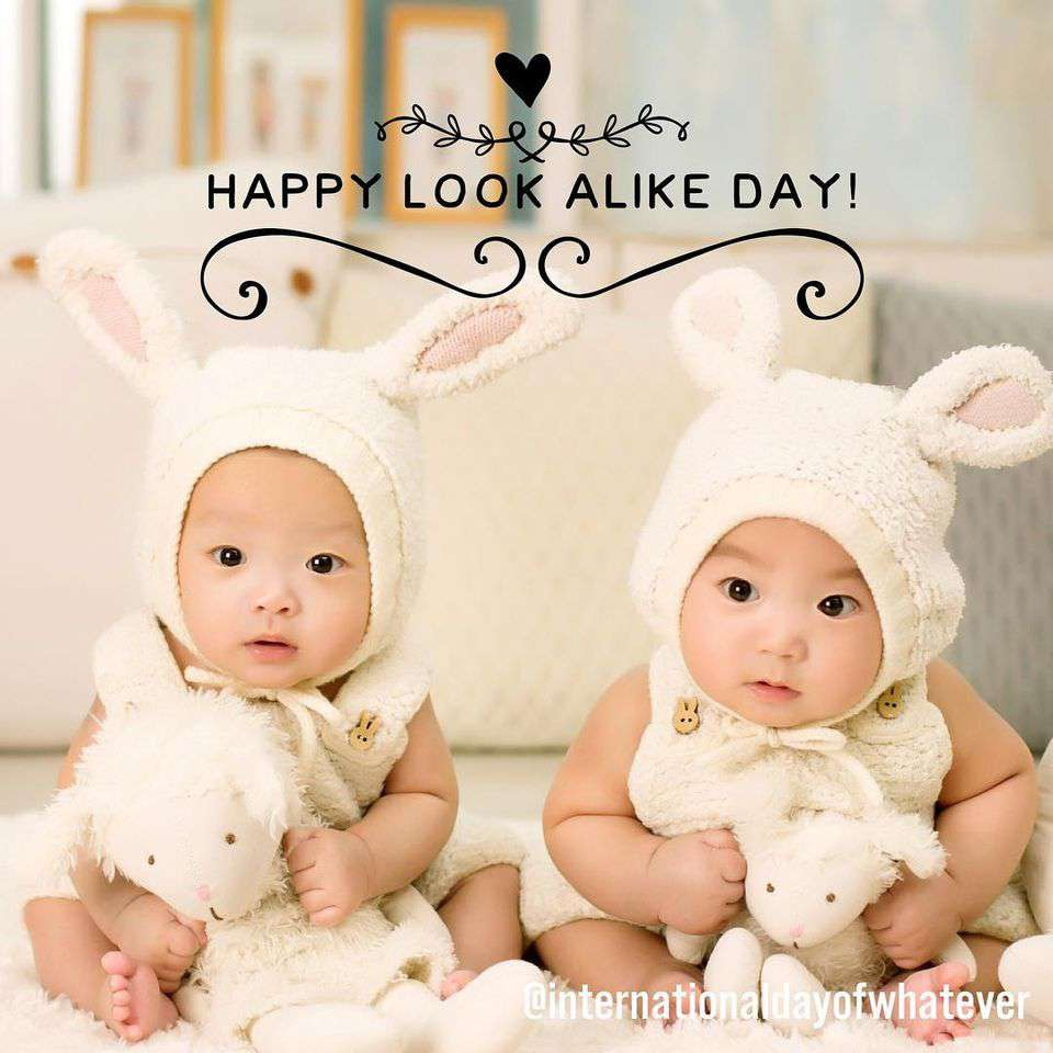 National Look-Alike Day Wishes Sweet Images