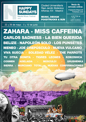 Happy Sundays, Madrid, Music, Festival, Domingo, Primavera, Festival, concierto
