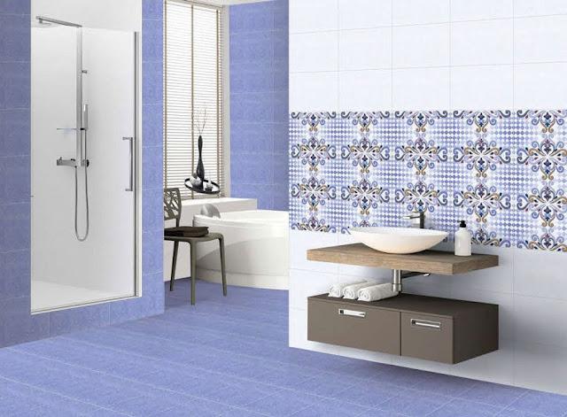 Large Blue Bathroom Tiles