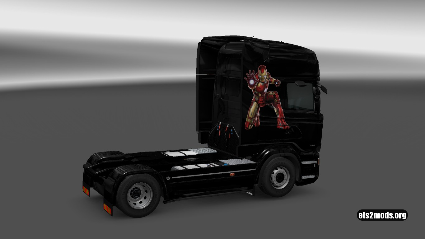 Scania RJL Iron Man Skin