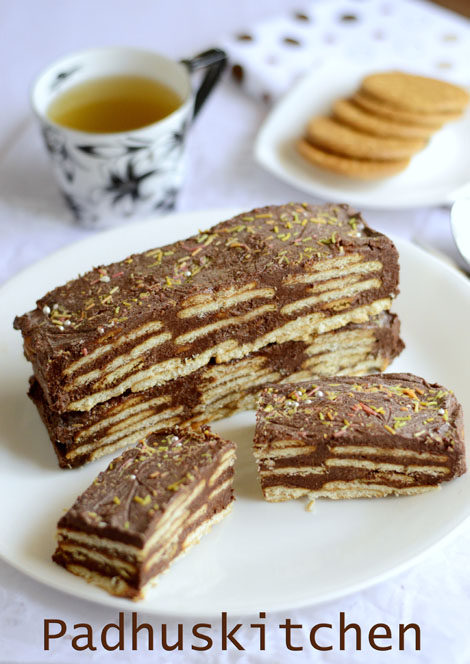 Chocolate Biscuit Cake With Mars Bars