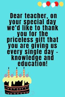most heartfelt birthday wishes for teacher