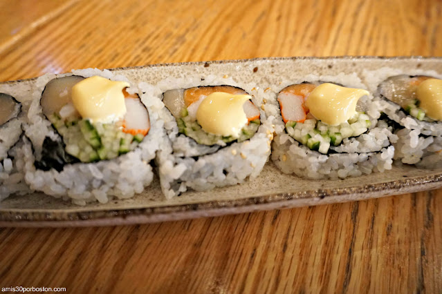 Sushi en The Mad Monkfish en Central Square, Cambridge