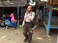 Polda Banten Lakukan Patroli Ops Aman Nusa II di Pantai Pasir Putih Anyer
