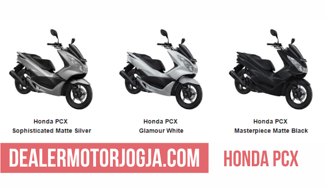 Honda PCX Sophisticates Matte Silver | Honda PCX Glamour White | Honda PCX Masterpiece Matte Black