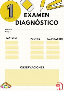 Examen diagnóstico primer grado primaria pdf