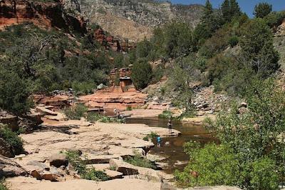 Аризона, США. Arizona, USA, река, скалы, люди, путешествия, рыбалка