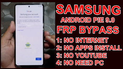 Samsung Android Pie 9.0 Frp Bypass Without Wifi And Apps 2020 New Method.