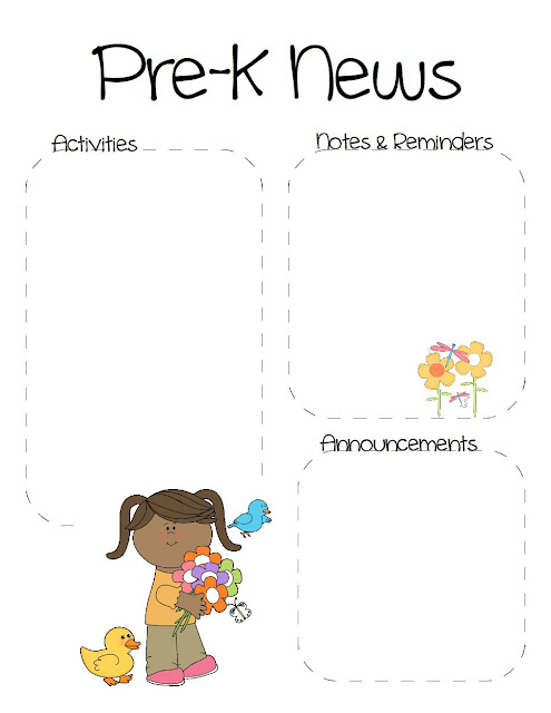 spring+prek January Pre Newsletter Template Free on christmas family, microsoft word, preschool classroom,