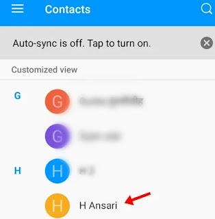 kisi bhi mobile number par click kare