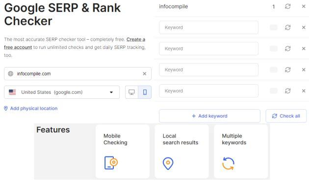 WhatsMySerp - Web Page Ranking, Serp Check