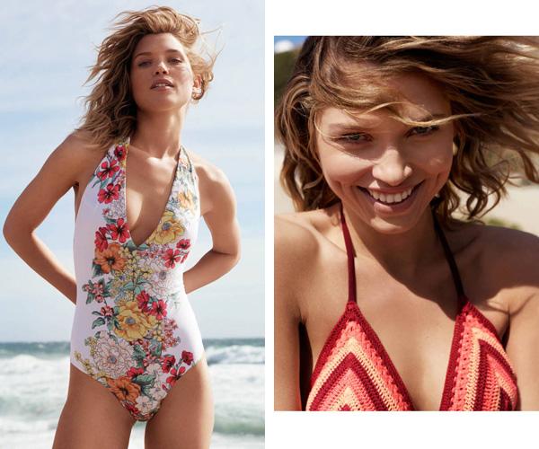 bañador escote pico y bikini crochet H&M