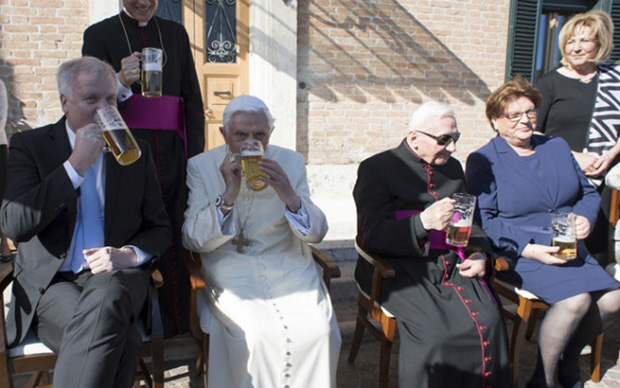 Ex-Pope Marks 90th B'day With Beer