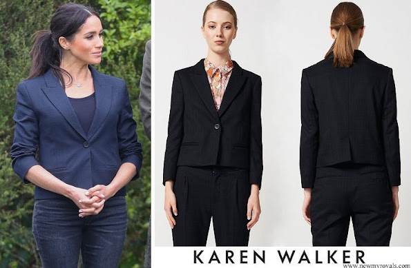 Meghan Markle wore Karen Walker Fathom Dark Navy Jacket