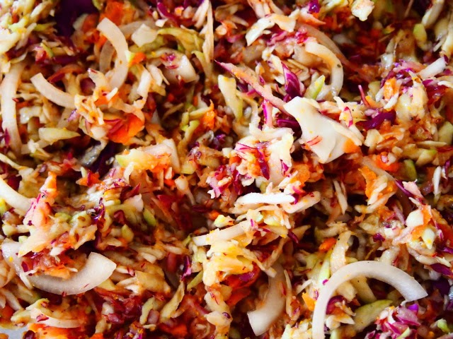 Cabbage Slaw with Vinegar Dressing