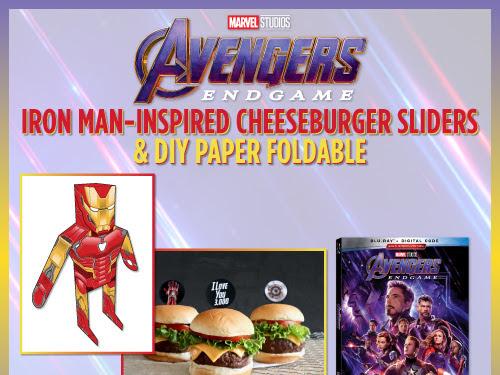 Avengers: Endgame - Iron Man Cheeseburger Sliders & DIY Paper Foldable