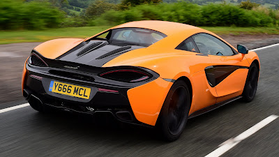 McLaren 570S on the road