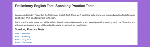 Speaking Practice Tests in Flo-Joe