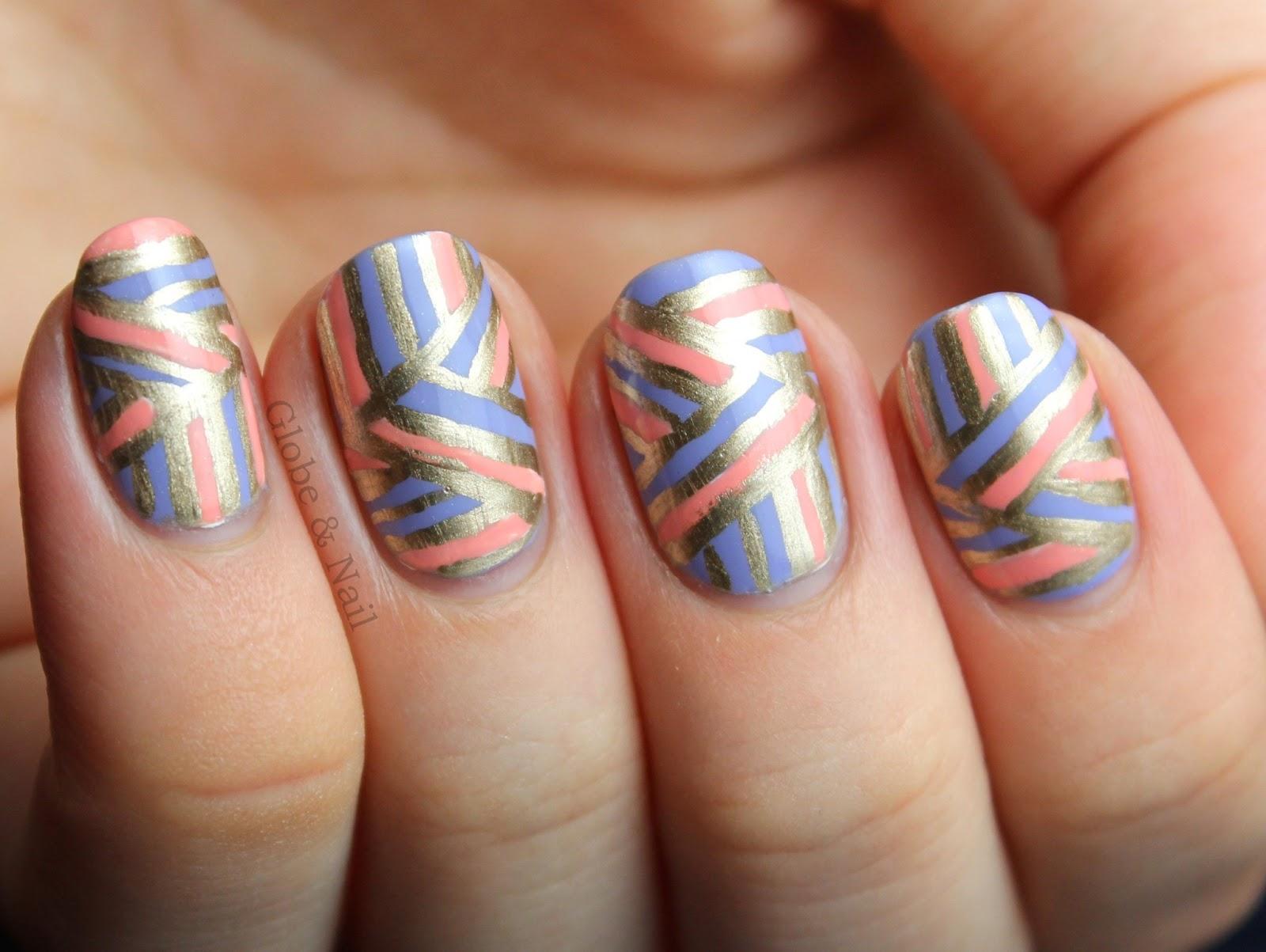 Globe & Nail: Triangular Geometrics & Round Nails