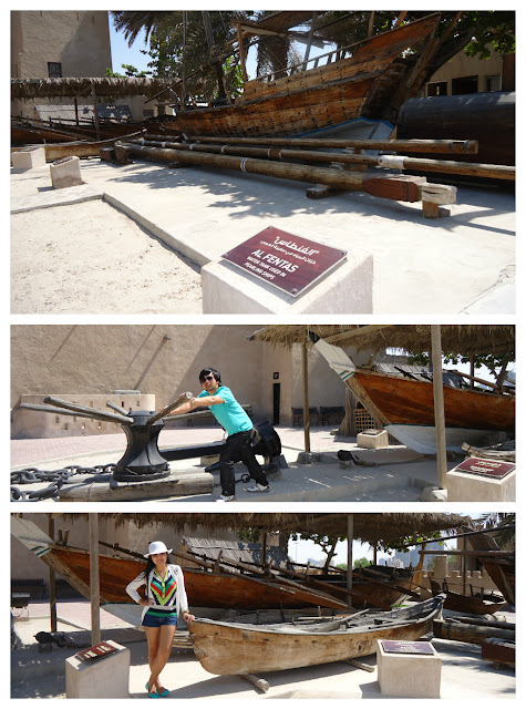 wooden boats at Ajman Museum