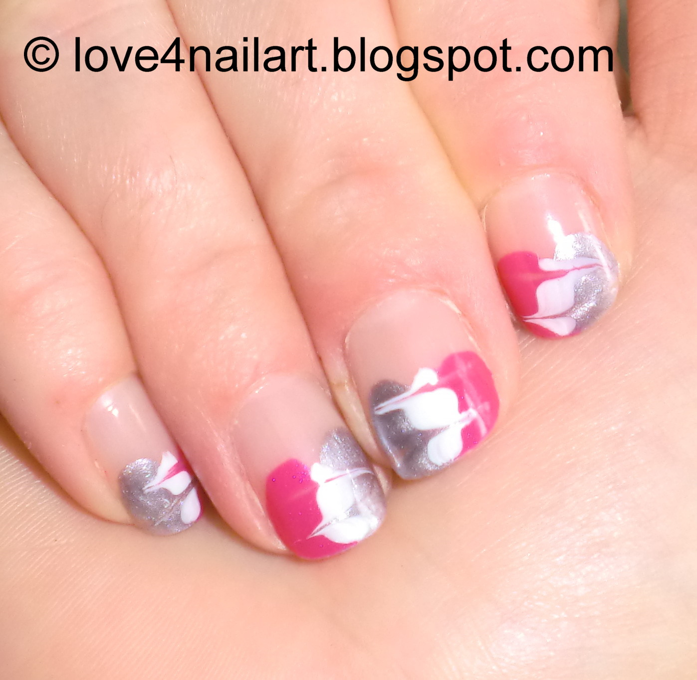 Love4NailArt: Girly Abstract Nail Tutorial