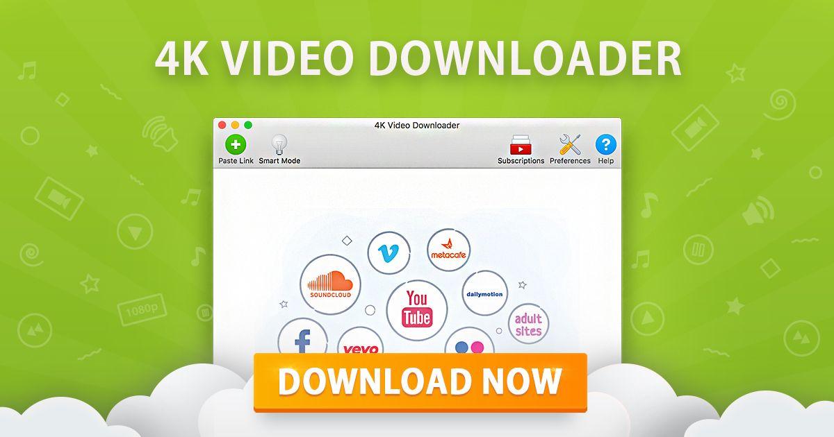 تحميل قائمة تشغيل / مقطع فيديو / صوت من فيديو - 4k video downloader كامل مدي الحياة