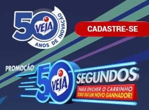 Promoção Veja Encher Carinho 50 Segundos - Veja Produtos 50 Anos