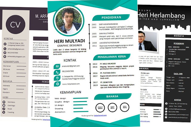 Contoh CV Lamaran Kerja Bagus Menarik file PDF dan Doc Part-3