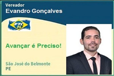 CLIQUE E ACESSE A FANPAGE DO VEREADOR EVANDRO GONÇALVES