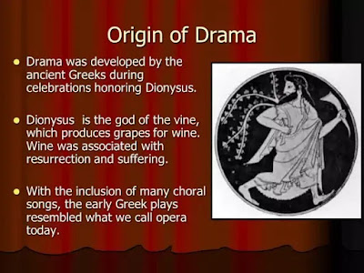 """The origins of the drama, it has been said, """"have always been deeply rooted in the religious instinct of mankind""""."""