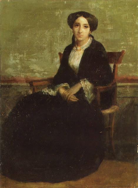 Адольф Вильям Бугро - Портрет Женевьевы Селин (1850)
