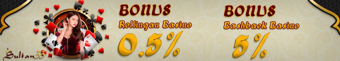 DOUBLE BONUS MINGGUAN LIVE CASINO