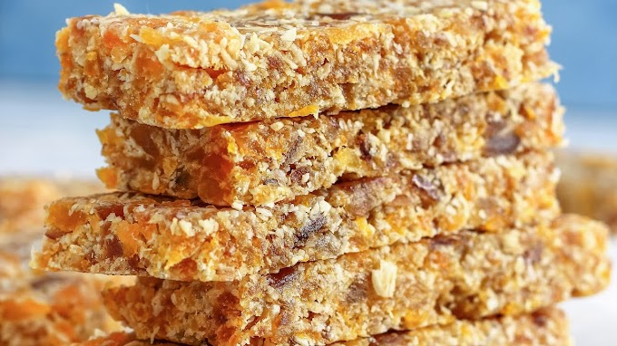 No-Bake Date Energy Bar #healthyfood #dietketo #breakfast #food