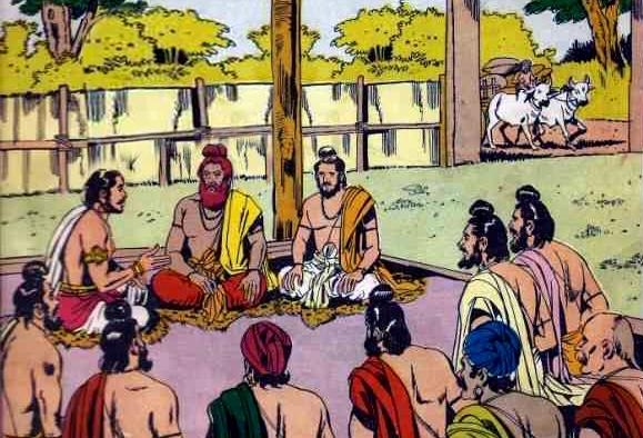 Vyasa at Janamejaya's Sacrifice