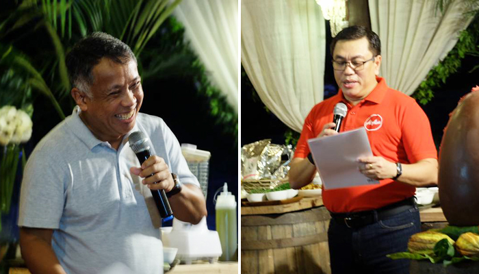 (L) Rex Puentespina, chocolate maker and Sales and Marketing Director, Malagos Agri-Ventures   (R) Captain Dexter Comendador, CEO Philippines AirAsia