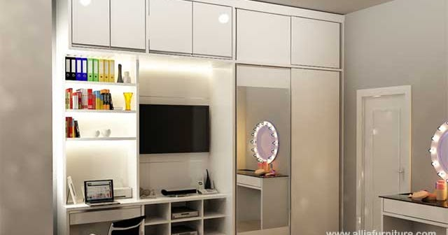 Lemari Minimalis Multifungsi Model Alves Allia Furniture