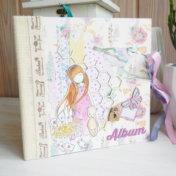 Album ręcznie robiony z dziewczynkami Gorjuss