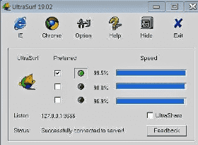 how to use UltraSurf on pc