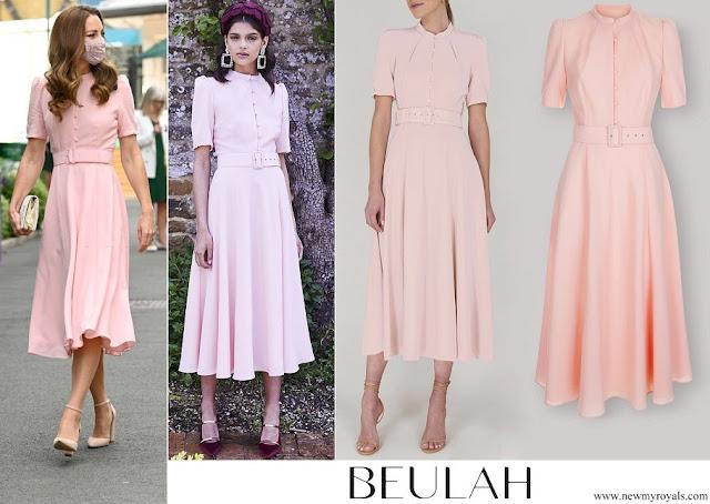 Kate Middleton wore Beulah London Ahana Blush Crepe Midi Dress