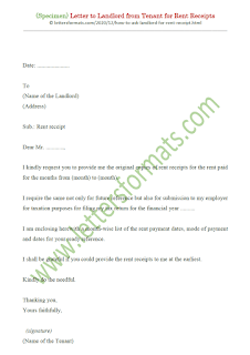 how to ask landlord for rent receipt
